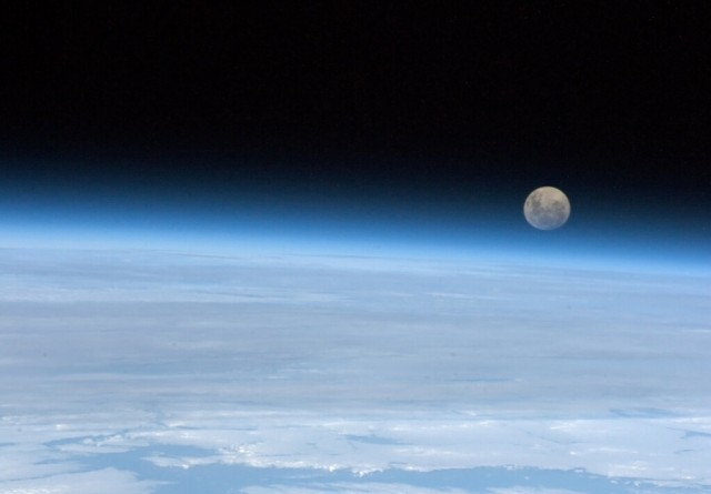 """Full Moon rising. So near, and yet ..."" - Chris Hadfield"