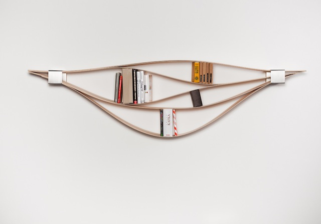 Bücherregal Design natascha harra frischkorn design biegsames bücherregal