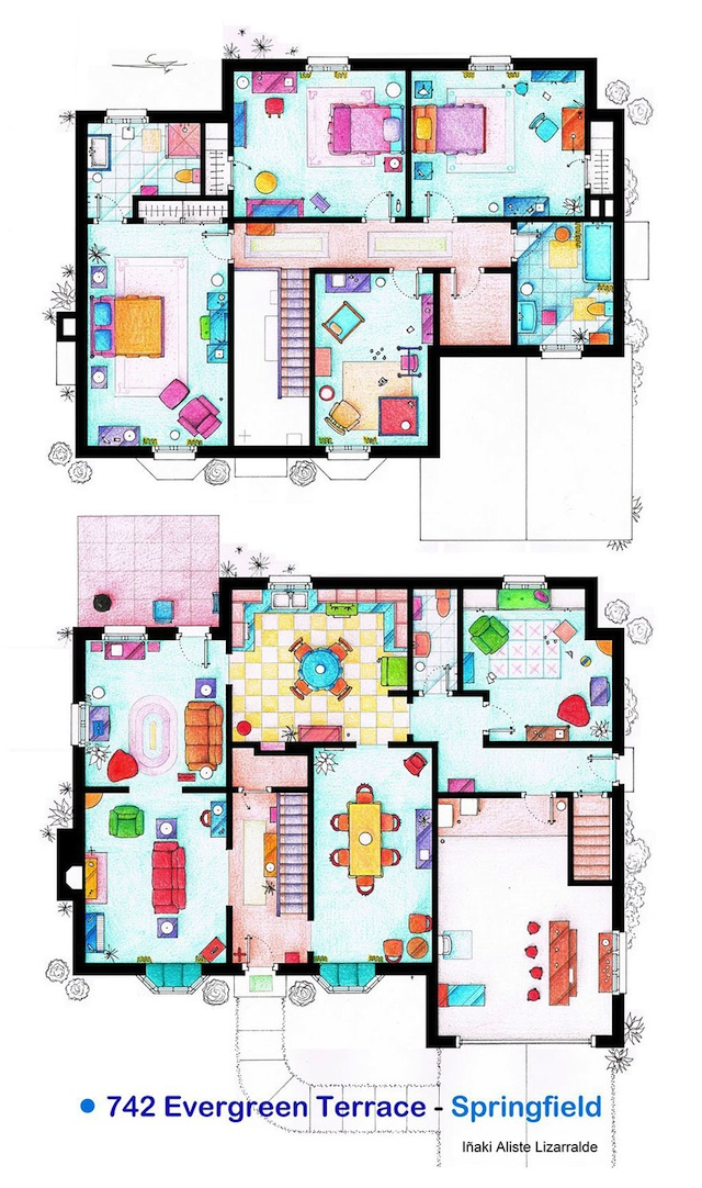 Floor Plans of Popular TV Show Apartments and Houses by Iñaki Aliste Lizarralde (1)