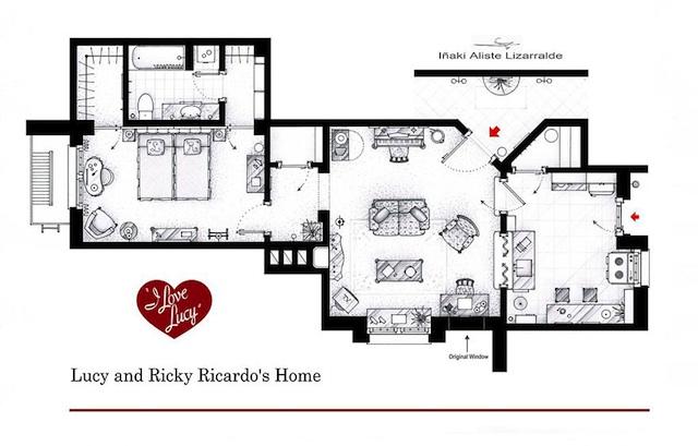 Floor Plans of Popular TV Show Apartments and Houses by Iñaki Aliste Lizarralde (10)