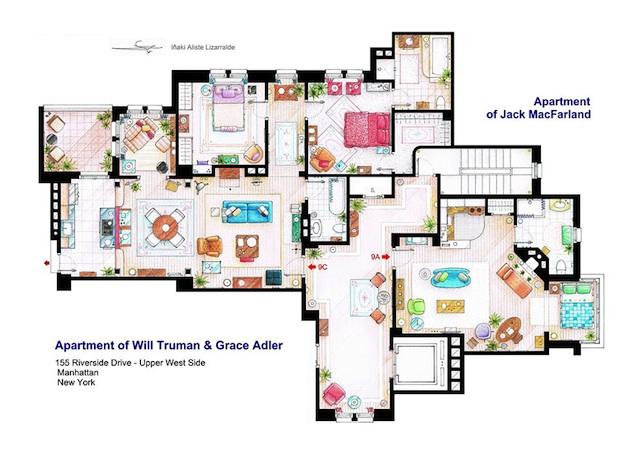 Floor Plans of Popular TV Show Apartments and Houses by Iñaki Aliste Lizarralde (11)