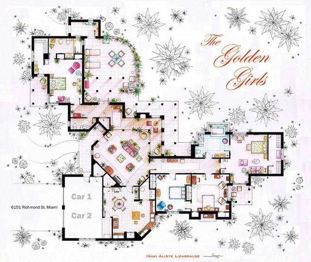 Floor Plans of Popular TV Show Apartments and Houses by Iñaki Aliste Lizarralde (12)