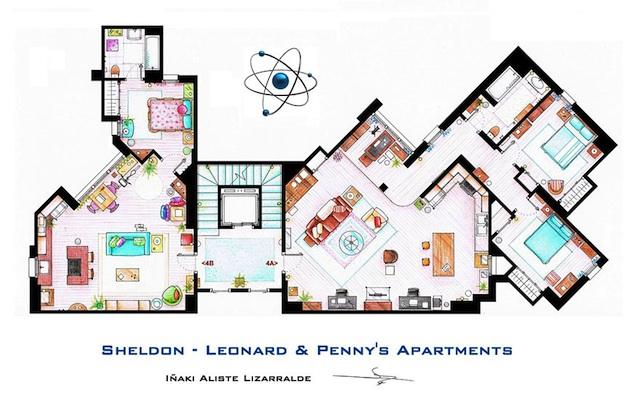 Floor Plans of Popular TV Show Apartments and Houses by Iñaki Aliste Lizarralde (13)