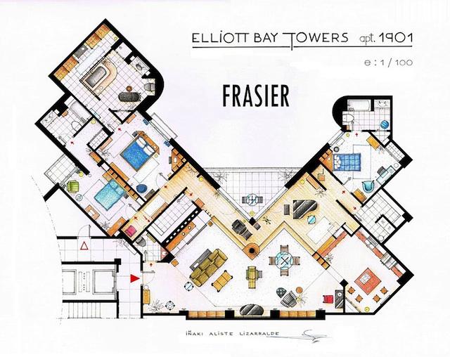 Floor Plans of Popular TV Show Apartments and Houses by Iñaki Aliste Lizarralde (14)