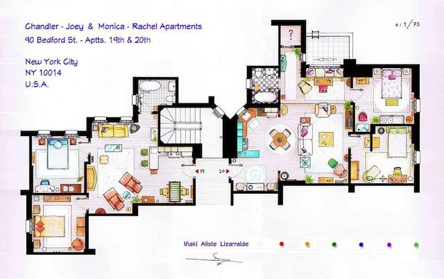 Floor Plans of Popular TV Show Apartments and Houses by Iñaki Aliste Lizarralde (2)
