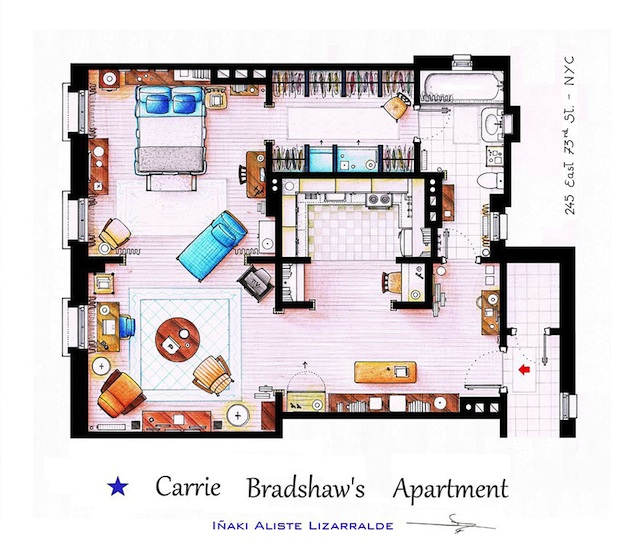 Floor Plans of Popular TV Show Apartments and Houses by Iñaki Aliste Lizarralde (3)
