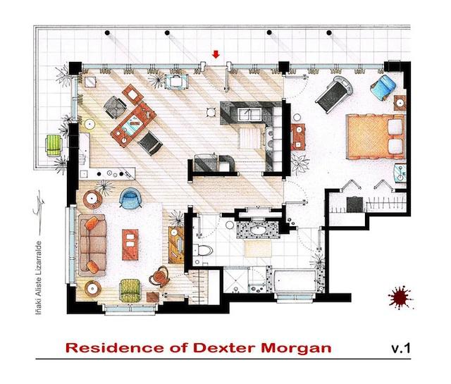 Floor Plans of Popular TV Show Apartments and Houses by Iñaki Aliste Lizarralde (4)