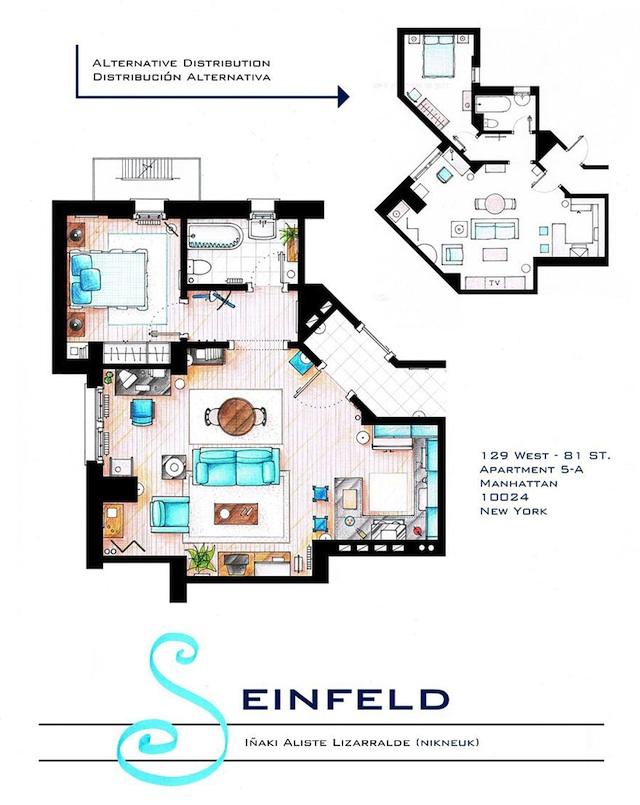 Floor Plans of Popular TV Show Apartments and Houses by Iñaki Aliste Lizarralde (5)