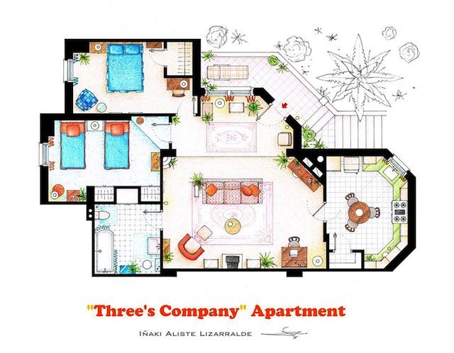 Floor Plans of Popular TV Show Apartments and Houses by Iñaki Aliste Lizarralde (6)