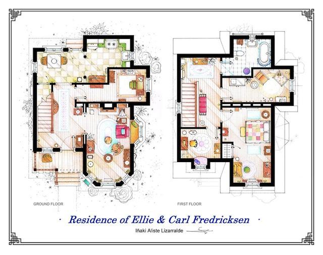 Floor Plans of Popular TV Show Apartments and Houses by Iñaki Aliste Lizarralde (7)