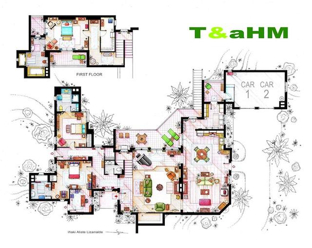 Floor Plans of Popular TV Show Apartments and Houses by Iñaki Aliste Lizarralde (8)