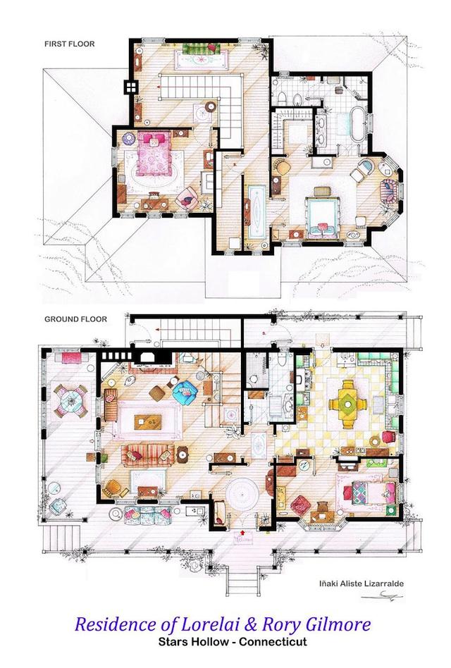 Floor Plans of Popular TV Show Apartments and Houses by Iñaki Aliste Lizarralde (9)