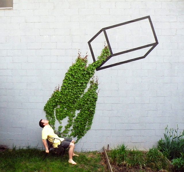 Street Art Fusing with Nature (2)