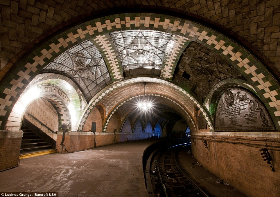 Beautiful: Ms Grange discovered this disused subway station in New York City on her travels with her camera